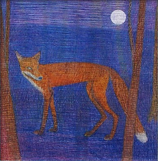Val George-Young Fox Under The Moon