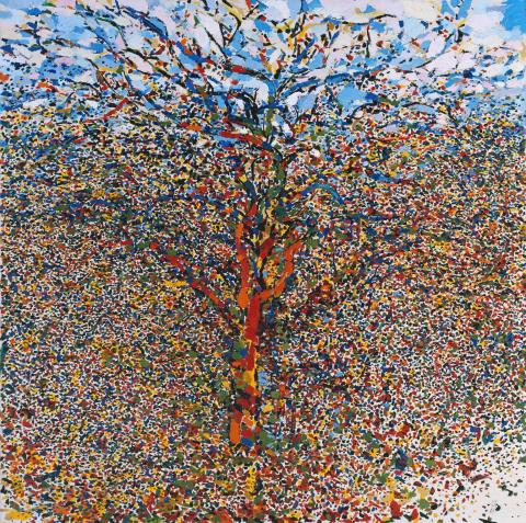 The Tree 1958 by Philip Sutton born 1928